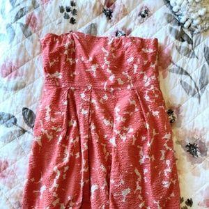 J.CREW Textured Strapless Dress